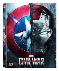 [Blu-ray] Captain America: Civil War (2Disc: 2D+3D) Fullslip A1 Steelbook LE (Weetcollection Exclusive No.01)