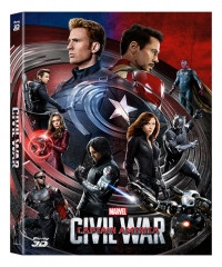 [Blu-ray] Captain America: Civil War (2Disc: 2D+3D) Fullslip A2 Steelbook LE (Weetcollection Exclusive No.01)