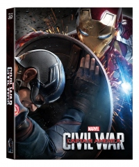 [Blu-ray] Captain America: Civil War (2Disc: 2D+3D) Lenticular Fullslip Steelbook LE (Weetcollection Exclusive No.01)